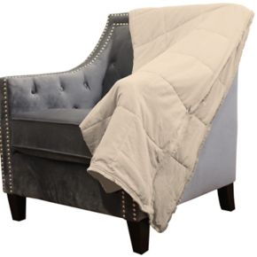 dreamOthis Down Alternative Brushed Crepe Trim Throw