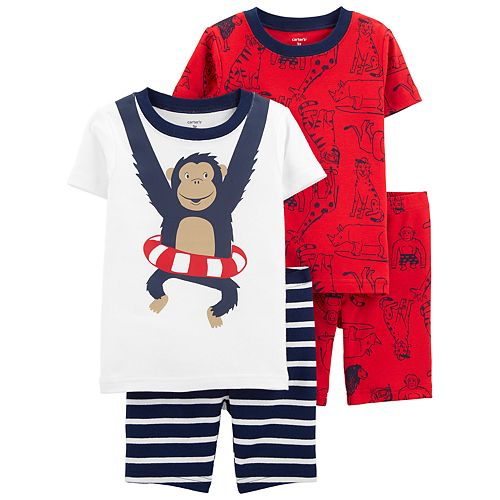 Toddler Boy Carter's Monkey & Animals Tops & Bottoms Pajama Set