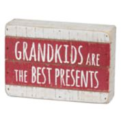 "Rustic ""Grandkids"" Christmas Box Sign Art"
