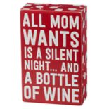"""All Mom Wants"" Christmas Box Sign Art"