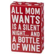 """""""All Mom Wants"""" Christmas Box Sign Art"""