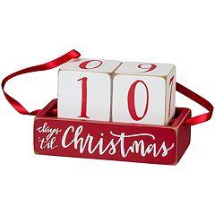 'Days 'Til' Countdown Christmas Table Decor