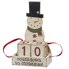 Snowman Countdown Christmas Table Decor
