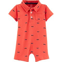 Baby Boy Carter's Cars Polo Romper
