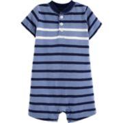 Baby Boy Carter's Striped Henley Romper