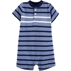 Baby Boy Carter's Striped Henley Romper