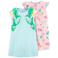 Toddler Girl Carter's 2-pack Tropical Bird Dorm Nightgowns