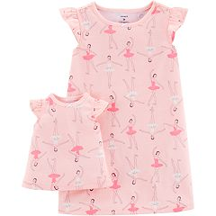Toddler Girl Carter's Ballerinas Nightgown & Matching Doll Nightgown Set