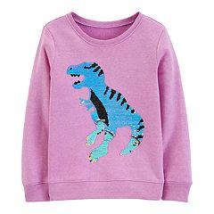 Girls 4-14 OshKosh B'gosh® Dinosaur Flip Sequins Sweater