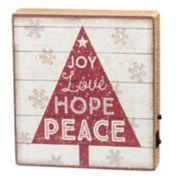 "Light-Up ""Love"" Christmas Box Sign Art"
