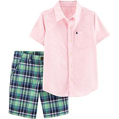 Boys 4-12 Carter's Shirt & Plaid Shorts Set