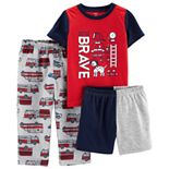 "Toddler Boy Carter's ""Brave"" Firefighter Top & Bottoms Pajama Set"