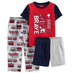 Toddler Boy Carter's 'Brave' Firefighter Top & Bottoms Pajama Set
