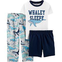 Toddler Boy Carter's 'Whaley Sleepy' Top, Shorts & Pants Pajama Set