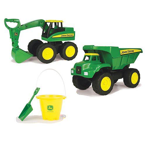 John Deere Big Scoop Dump Truck & Excavator Set