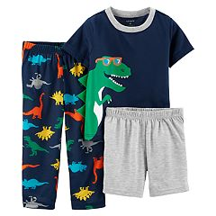 Toddler Boy Carter's Dinosaur Top, Shorts & Pants Pajama Set