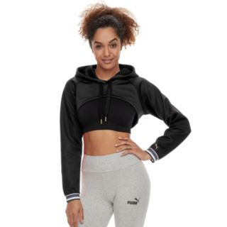 Women's PUMA Varsity Cover Up Cropped Hoodie