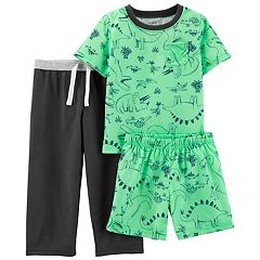 Toddler Boy Carter's Dinosaur Top, Shorts & Pants Pajama Set