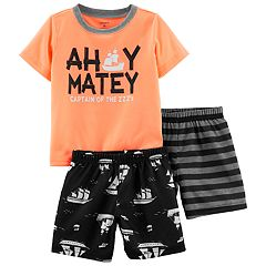 Toddler Boy Carter's 'Ahoy Matey' Top & Shorts Pajama Set