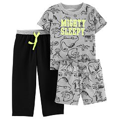 Toddler Boy Carter's 'Mighty Sleepy' Dinosaur Top & Bottoms Pajama Set