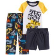 Toddler Boy Carter's Construction Trucks Top & Bottoms Pajama Set