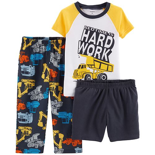 Baby Boy Carter's Construction Tee, Pants & Shorts Pajama Set