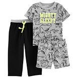 "Baby Boy Carter's ""Mighty Sleepy"" Dinosaur Top & Bottoms Pajama Set"