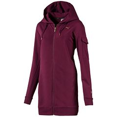 Women's PUMA Fusion Elongated Hooded Bomber Jacket