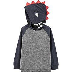 Toddler Boy Carter's 3-D Spikes Dinosaur Pullover Hoodie
