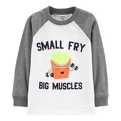 Toddler Boy Carter's 'Small Fry Big Muscles' Raglan Pullover Top