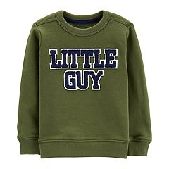 Toddler Boy Carter's 'Little Guy' Applique Sweatshirt