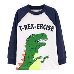 Toddler Boy Carter's Dinosaur 'T-Rex-Ercise' Raglan Pullover Top