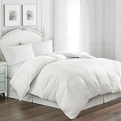 Hotel Suite Rolled White Goose Feather Comforter