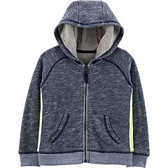 Toddler Boy Carter's Striped Navy Knit Zip Hoodie