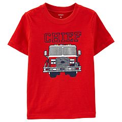 Toddler Boy Carter's Fire Truck 'Chief' Graphic Tee