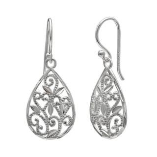 PRIMROSE Sterling Silver Filigree Drop Earrings