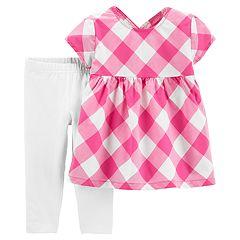 Toddler Girl Carter's Gingham Top & Leggings Set