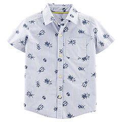 Toddler Boy Carter's All-Over Bugs Button Down Shirt