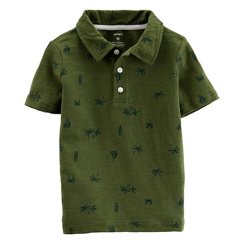 Toddler Boy Carter's Palm Tree Polo