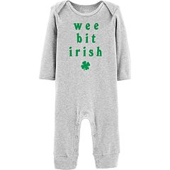 Baby Boy Carter's 'Wee Bit Irish' Graphic Coverall