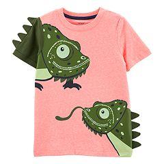 Toddler Boy Carter's 3-D Spikes Chameleon Tee