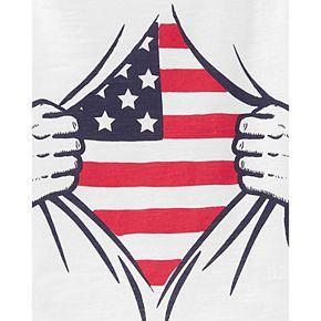 Toddler Boy Carter's American Flag 4th Of July Slub Tee