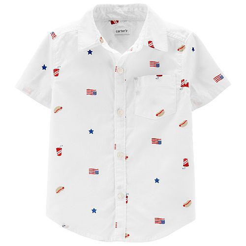 Toddler Boy Carter's 4th Of July Button-Front Shirt