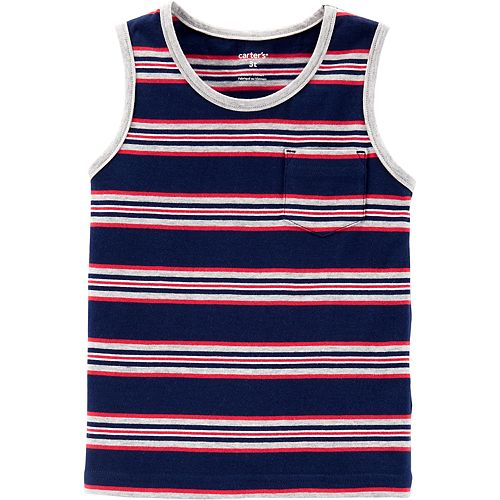 Toddler Boy Carter's Striped Jersey Tank