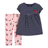 Toddler Girl Carter's Cherry Tee & Leggings Set