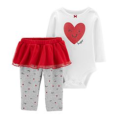 Baby Girl Carter's Heart Bodysuit & Tutu Pants Set