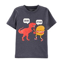 Toddler Boy Carter's 'Snack Attack' Dinosaur Burger Graphic Tee
