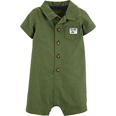 Baby Boy Carter's Button Front Collared Romper
