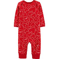 Baby Girl Carter's Heart Coverall