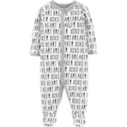 "Baby Carter's ""Heart Breaker"" Print Sleep & Play"